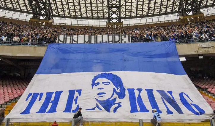 Napoli's stadium renamed after Diego Maradona