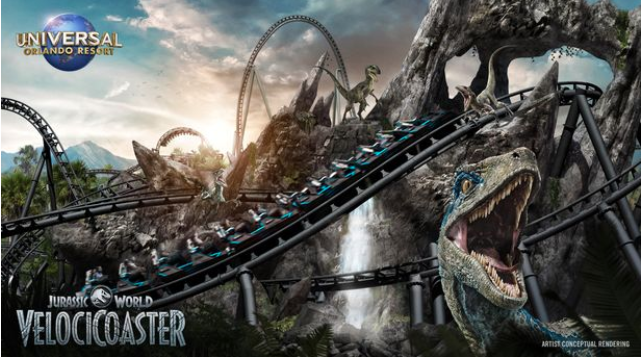 Universal Orlando offers sneak peek of new Jurassic World themed rollercoaster