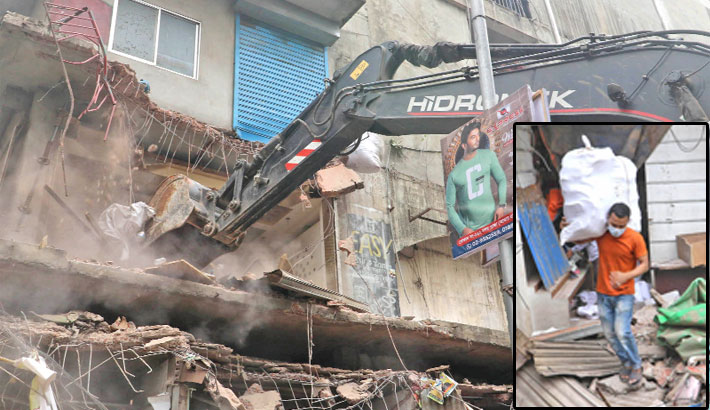 210 more  illegal shops  bulldozed