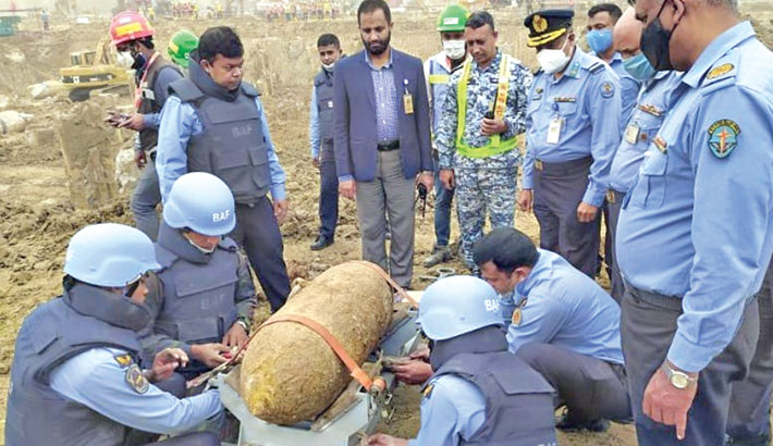 250-kg wartime bomb found during digging at HSIA