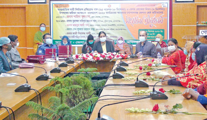 Marking International Day for the Elimination of Violence against Women and Begum Rokeya Day