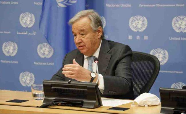 UN chief says he will take COVID-19 vaccine