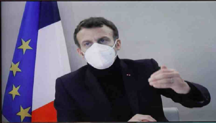 Virus-stricken Macron at presidential retreat with fever