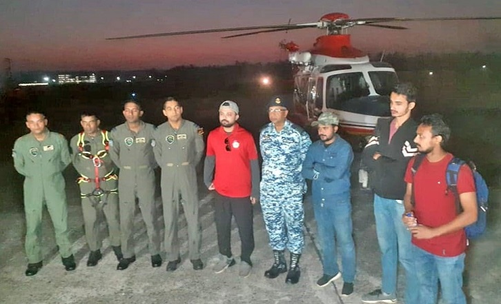 Bangladesh Air Force rescues 4 students trapped in Himchhari hill