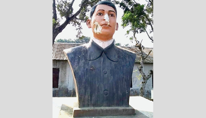 Now they vandalise sculpture of Bagha Jatin in Kushtia