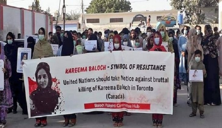 Hundreds march across Balochistan to protest Karima Baloch killing, demand probe from Canada