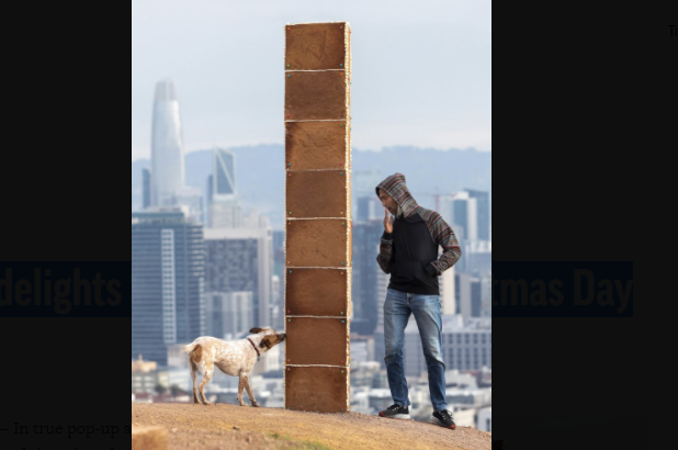 Gingerbread monolith delights San Francisco on Christmas Day