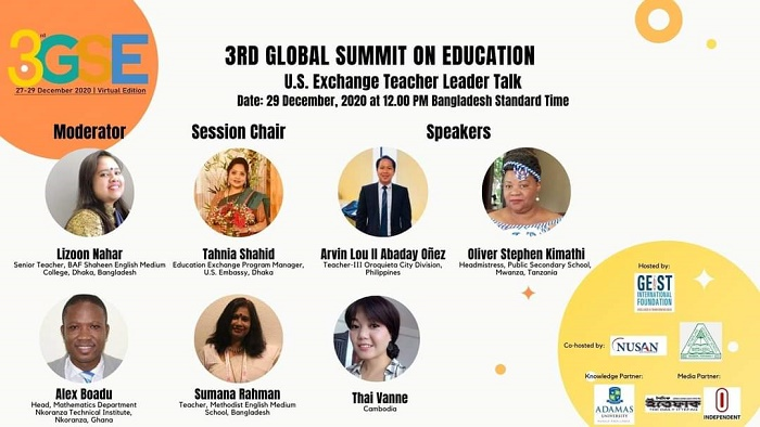 Speakers emphasis on education to cope with global challenges
