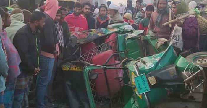 Couple killed as train hits auto-rickshaw in Cumilla