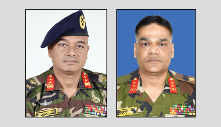 Maj Gen Salahuddin new military secy to President, Maj Gen Moshfequr BUP VC