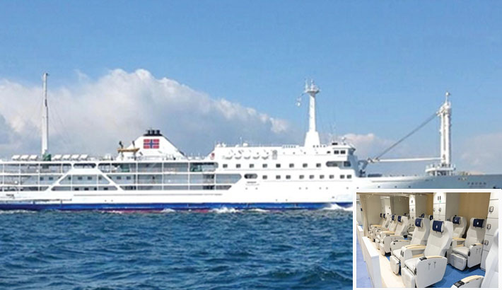Cruise ship M V Bay One launched for tourists