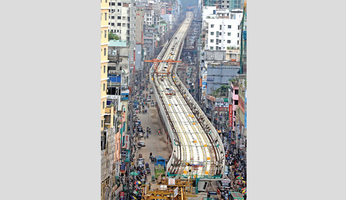 Overhead metro  rail likely to start  operation in '21