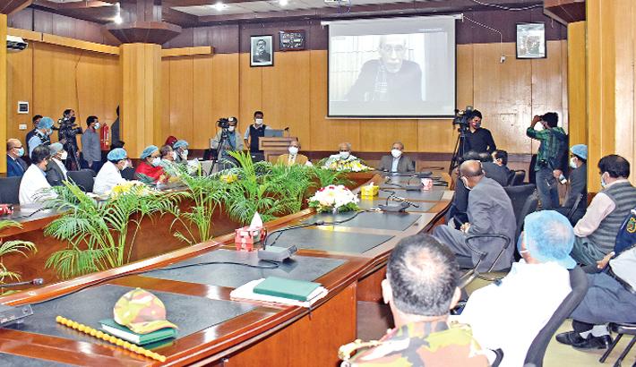 VC of BSMMU speaks at a commemoration meeting on Bangabandhu