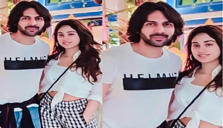 Kartik Aaryan And Janhvi Kapoor spotted together In Goa