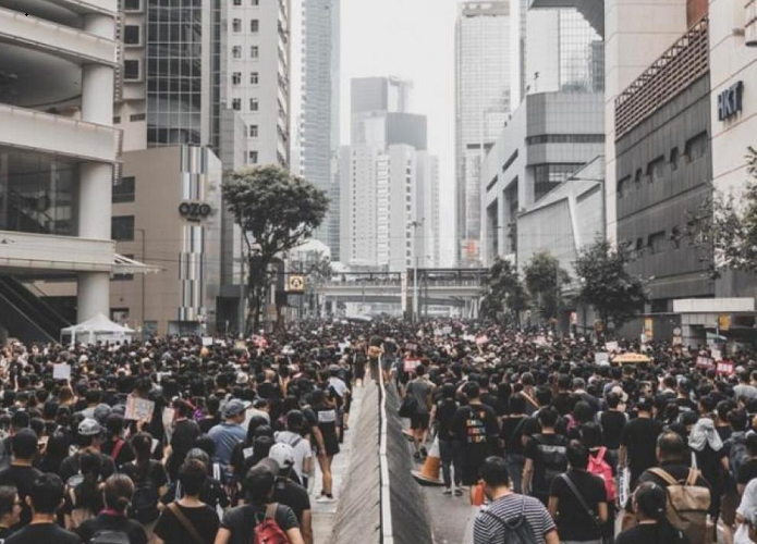 Chinese atrocities: Hong Kong Police invokes security law to block website publishing 2019 anti-govt protest