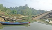 A bailey bridge in Kutukchhari of Rangamati district collapses under