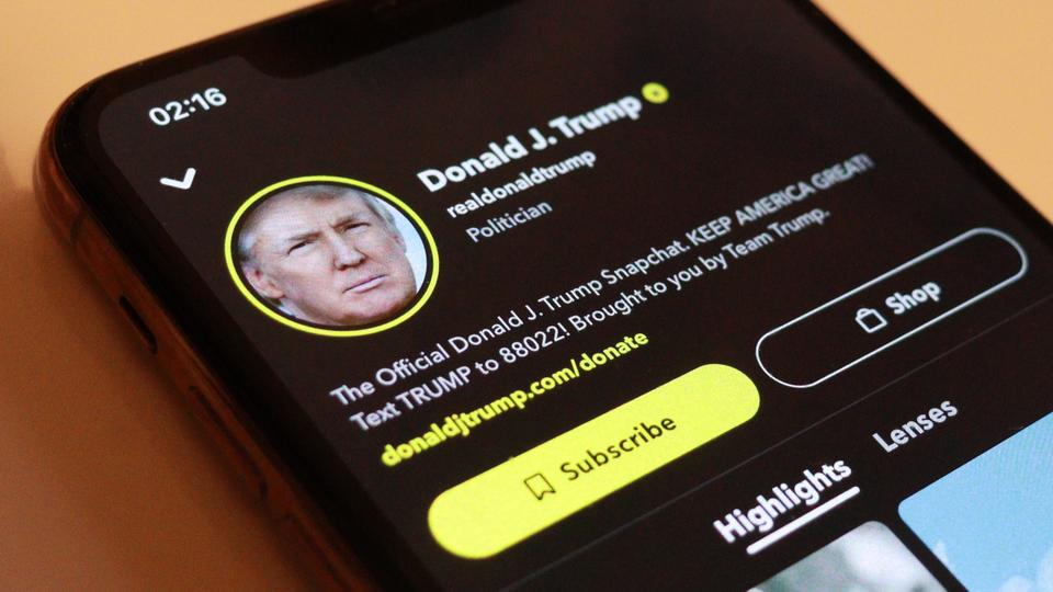 Snapchat permanently bans Donald Trump from site