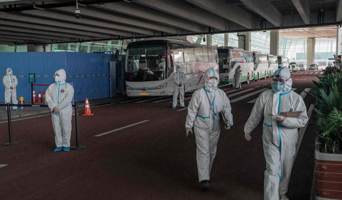 Two members of WHO team blocked from entering China over failed antibody test