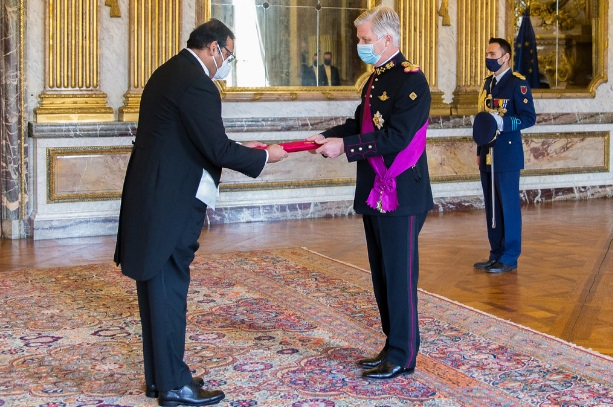 New Bangladesh envoy to Belgium present credentials to King Philippe