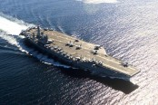 Iranian missiles land within 20 miles of ship, 100 miles from Nimitz strike group in Indian Ocean: officials