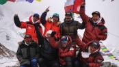 Nepali climbers make history with winter summit of K2 mountain
