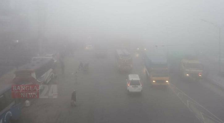 Foggy weather disrupts traffic movement