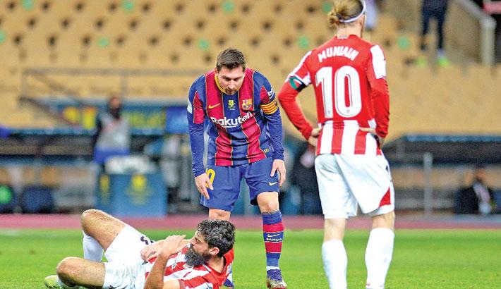 Messi sees red as Bilbao stun Barca