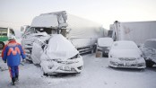 One dead as snowstorm causes 130-car pile-up in Japan