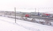 Chaos as snow hits Japanese highway