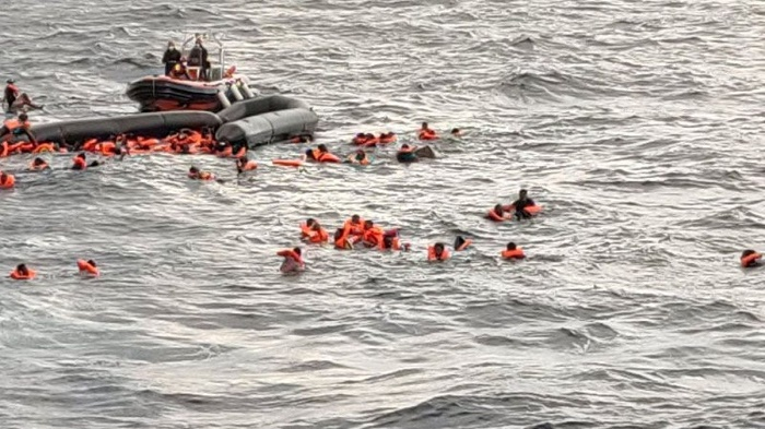 43 people drown after migrant boat capsizes in the Mediterranean