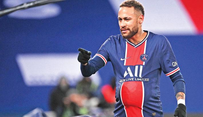 Neymar on target on 100th PSG appearance