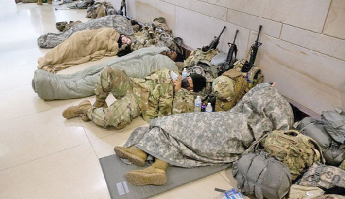 Outrage after US troops forced to sleep in garage