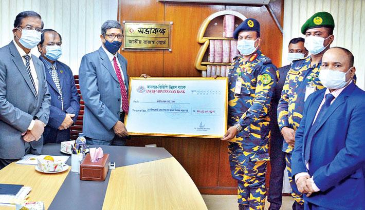 Ansar-VDP Bank pays Tk 435m tax to NBR