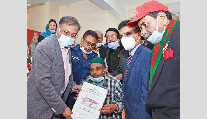 Hasan lauds PM for providing houses for homeless