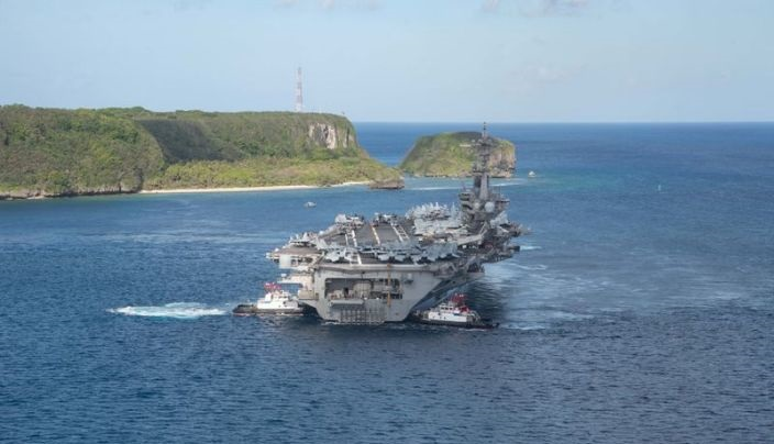 U.S. carrier group enters South China Sea amid Taiwan tensions