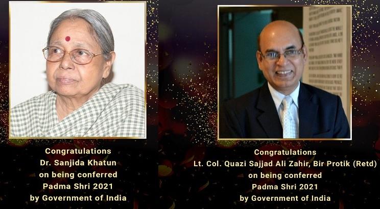 Two eminent Bangladeshis to receive Padma Shri Award 2021