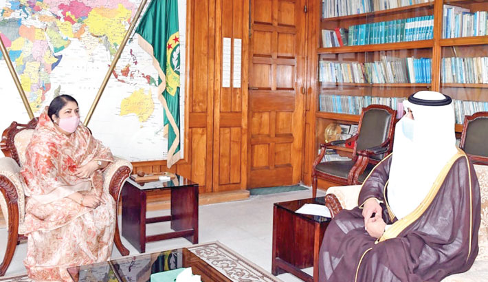 Essa Bin Yousef Essa Al Duhailan makes a courtesy call on Dr Shirin Sharmin Chaudhury