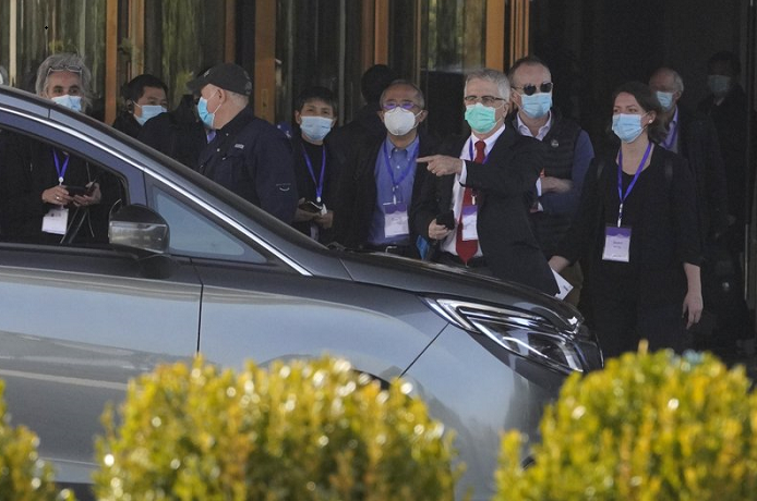 WHO team visits Wuhan hospital that had early COVID patients