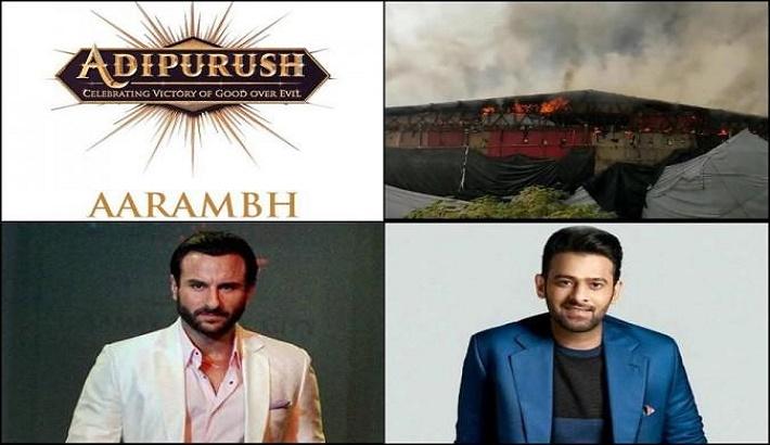 Prabhas, Saif Ali Khan starrer Adipurush sets in Mumbai catch