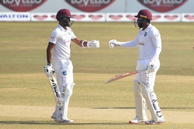 Brathwaite hits fifty but spinners put Bangladesh on top