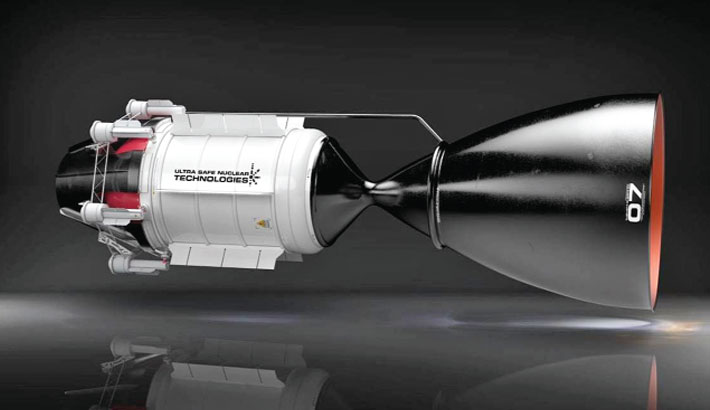 Nuclear-powered rocket to Mars