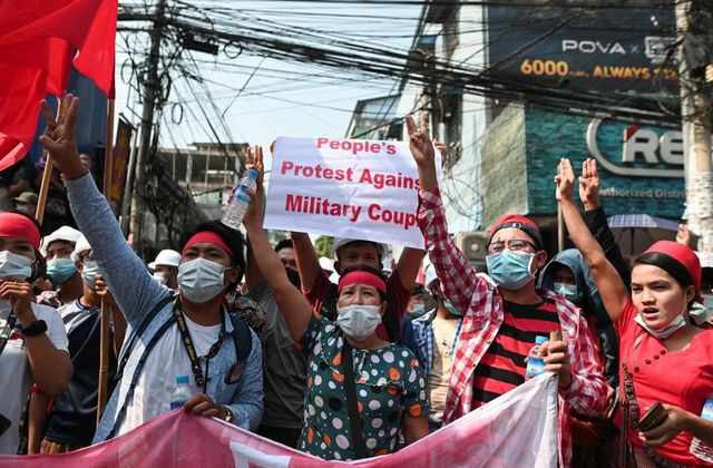 Thousands protest again in Myanmar against coup