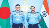 Air Chief returns home from India