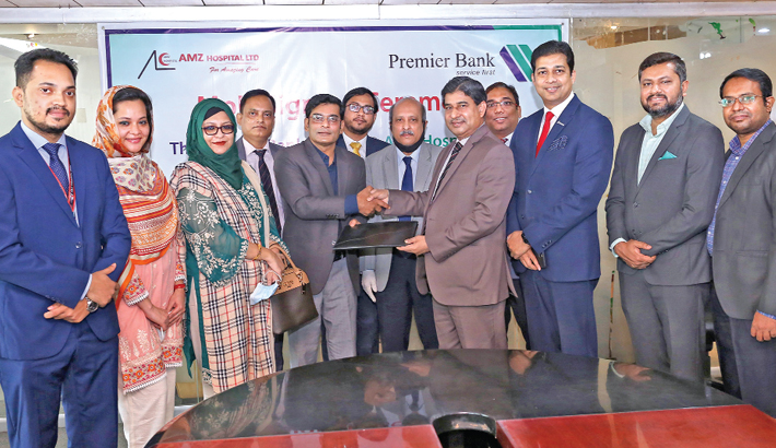 Premier Bank signs MoU with AMZ Hospital