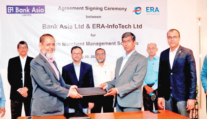 Bank Asia, ERA-InfoTech sign agreement