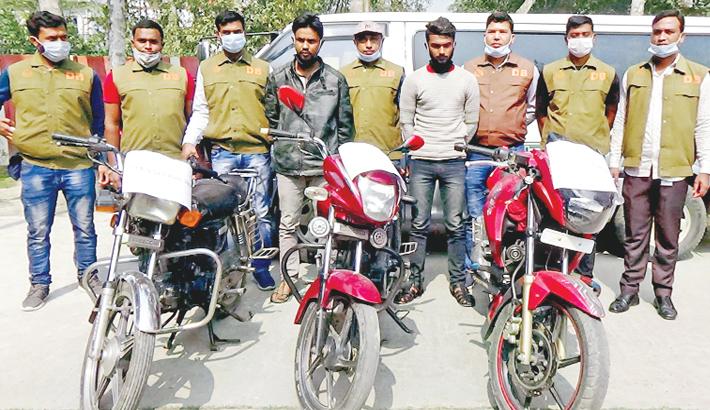 Motorcycle stealing gang