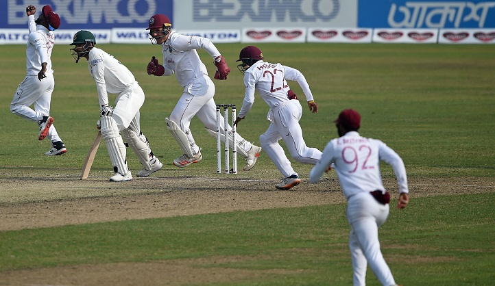 Bangladesh 296 all out in second West Indies Test
