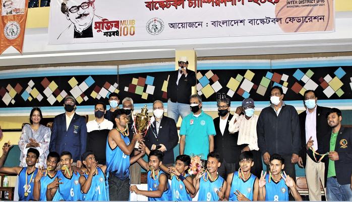 Bangabandhu Inter-district U-16 Basketball: Rajshahi emerge champs