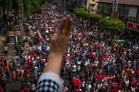 Tensions high as mass protests in Myanmar enter second week