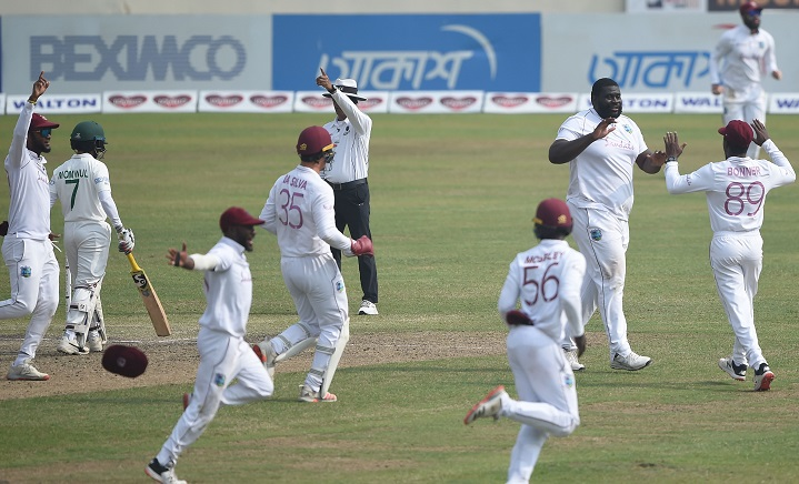West Indies beat Bangladesh by 17 runs